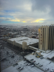 Storm over Reno, Nevada clears for Nevada Democratic Caucus 2016